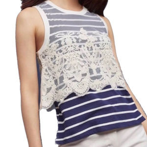 Anthropologie Postmark Nautique striped tank